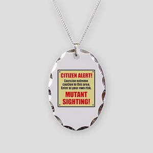Citizen Alert! Mutants! Necklace Oval Charm