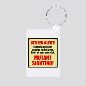 Citizen Alert! Mutants! Aluminum Photo Keychain