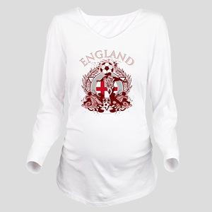 England Soccer Long Sleeve Maternity T-Shirt