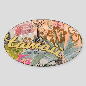 Vintage Hawaii Travel Colorful Hawaiian Tr Sticker