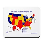 U.S. Senate by Party, 110th Congress, Mousepad-Red