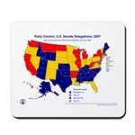 U.S. Senate by Party, 110th Congress, Mousepad-Blu