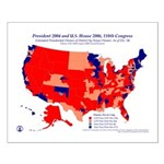 U.S. House, President by CD by Party, Poster-Red