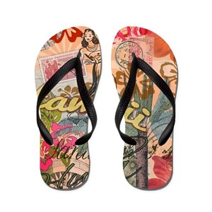 5a001f6cf Hawaiian Flip Flops - CafePress