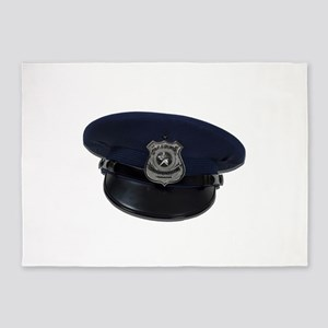 PoliceBadgeCap090411 5'x7'Area Rug