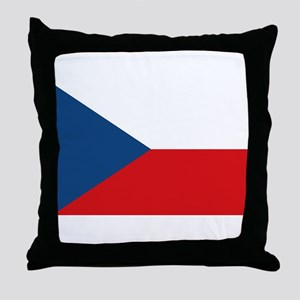 Flag of the Czech Republic Throw Pillow