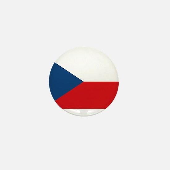 Flag of the Czech Republic Mini Button