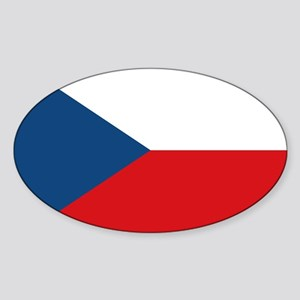 Flag of the Czech Republic Oval Sticker