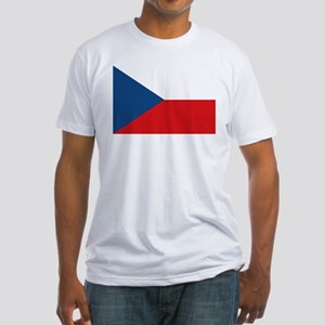 Flag of the Czech Republic Fitted T-Shirt