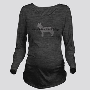 11-greysilhouette Long Sleeve Maternity T-Shir