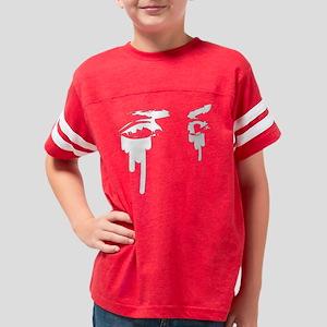 Blk_Tattoo_Eyes_Art Youth Football Shirt