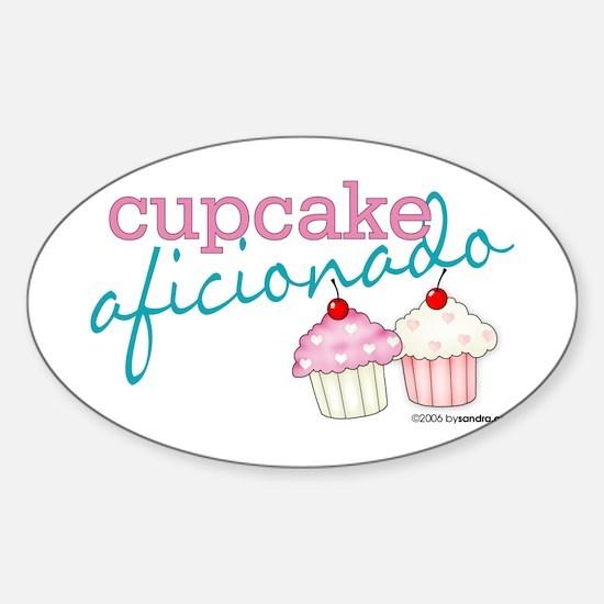 Cupcake Aficionado Oval Decal