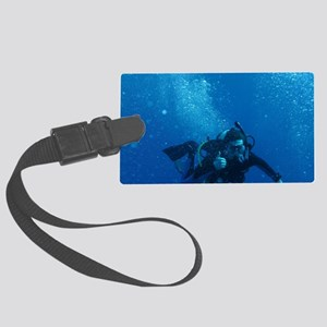 Scuba Diver 2 Large Luggage Tag