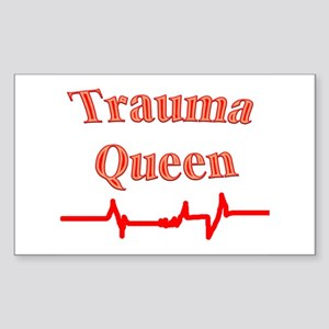 Trauma Queen Rectangle Sticker