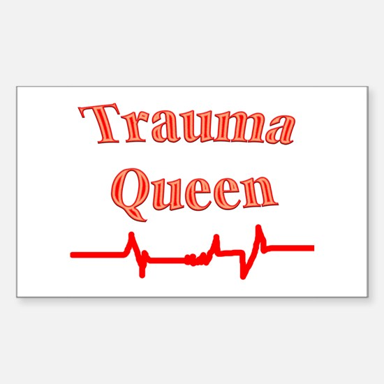 Trauma Queen Rectangle Decal