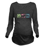 peacedogs Long Sleeve Maternity T-Shirt