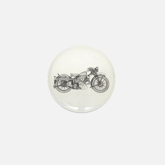 1935 Motorcycle Mini Button