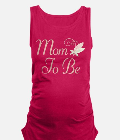 Mom To Be rose bud flower Maternity Tank Top