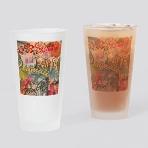 Vintage Hawaii Travel Colorful Hawa Drinking Glass