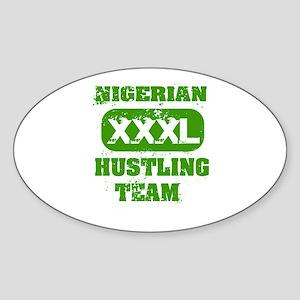 property of Nigeria Oval Sticker
