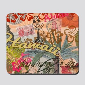 Vintage Hawaii Travel Colorful Hawaiian Mousepad