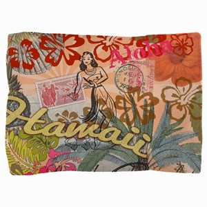 Vintage Hawaii Travel Colorful Hawaiia Pillow Sham