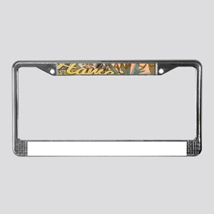 Vintage Hawaii Travel Colorful License Plate Frame