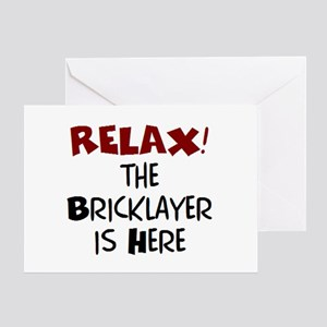 bricklayer here Greeting Card