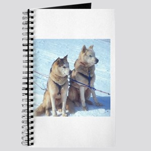 Siberian Husky Sled Pair Journal