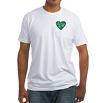 I Heart Love Christmas Fitted T-Shirt