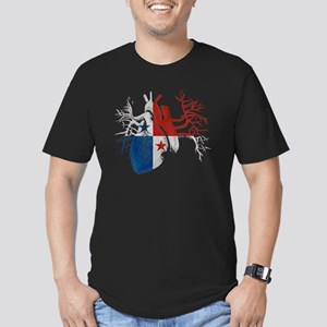 Panama Flag in Real He Men's Fitted T-Shirt (dark)