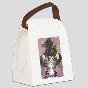 Harvest Witch Kitty Canvas Lunch Bag