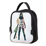 Naked Zombie Girl Neoprene Lunch Bag