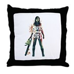 Naked Zombie Girl Throw Pillow