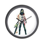 Naked Zombie Girl Wall Clock