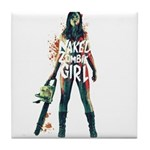 Naked Zombie Girl Tile Coaster
