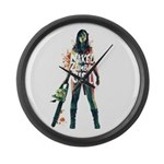 Naked Zombie Girl Large Wall Clock