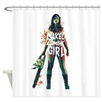 Naked Zombie Girl Shower Curtain