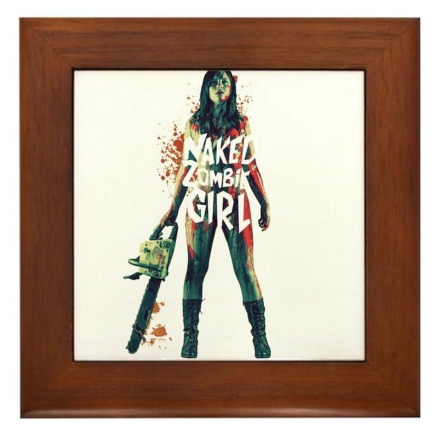 Naked Zombie Girl Framed Tile By Nzgstore-1977