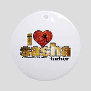 I Heart Sasha Farber Round Ornament