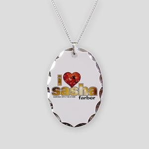 I Heart Sasha Farber Necklace Oval Charm