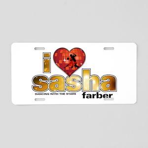 I Heart Sasha Farber Aluminum License Plate