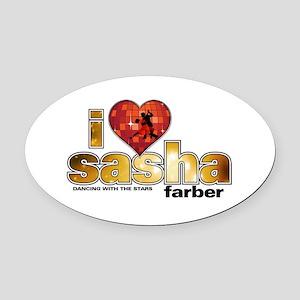 I Heart Sasha Farber Oval Car Magnet