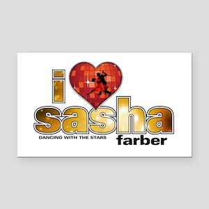 I Heart Sasha Farber Rectangle Car Magnet
