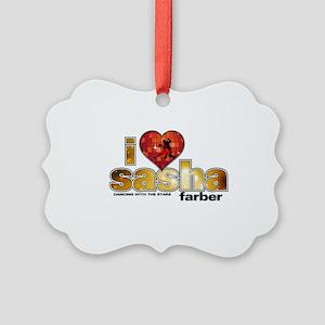 I Heart Sasha Farber Picture Ornament