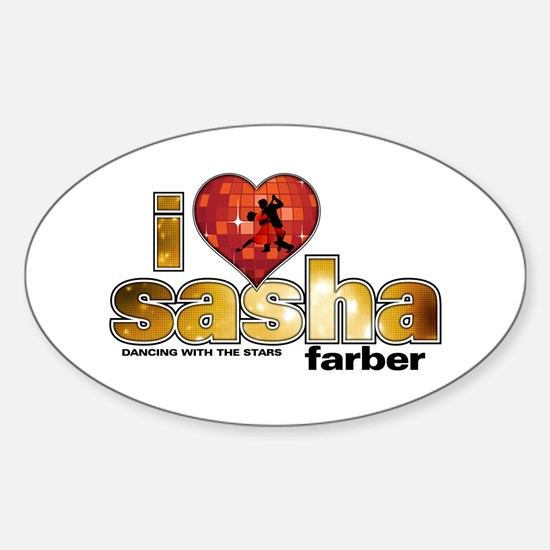 I Heart Sasha Farber Oval Decal