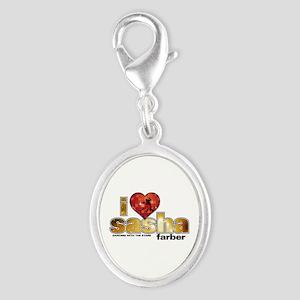 I Heart Sasha Farber Silver Oval Charm
