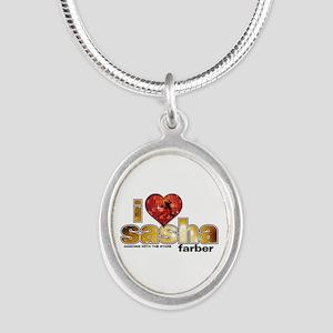 I Heart Sasha Farber Silver Oval Necklace