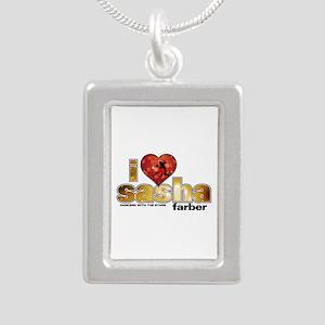 I Heart Sasha Farber Silver Portrait Necklace