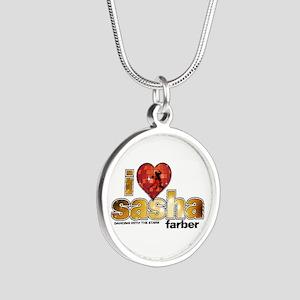 I Heart Sasha Farber Silver Round Necklace
